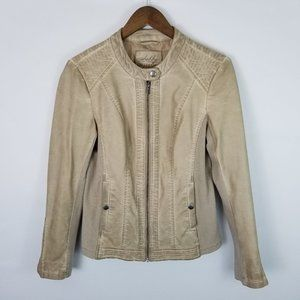 Sebby Nordstrom Faux Leather Tan Moto Jacket